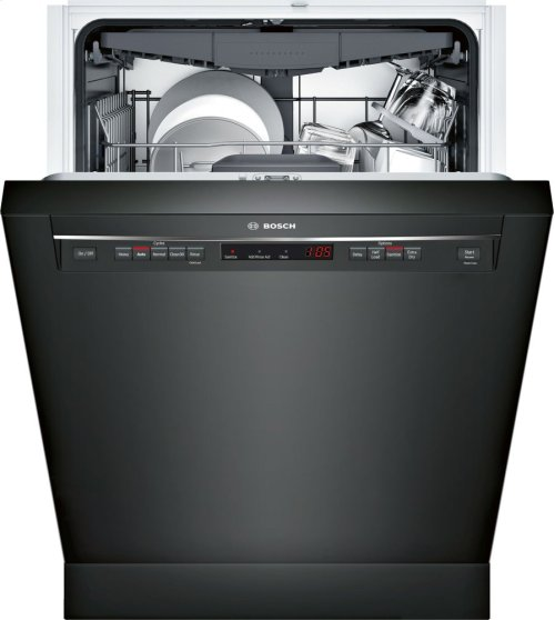 "300 Series 24"" Recessed Handle Dishwasher SHE863WF6N Black"