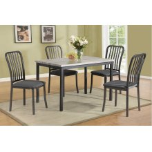 F2356 / Cat.19.p66- 5PCS TABLE+4CHAIR