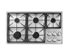 "Heritage 36"" Dual Gas Cooktop, Liquid Propane/High Altitude"