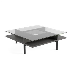 Square Coffee Table in Charcoal Stained Ash -