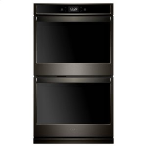 Whirlpool(R) 10.0 cu. ft. Smart Double Wall Oven with True Convection Cooking - Black Stainless - BLACK STAINLESS