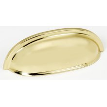 Cup Pulls A1262 - Polished Brass
