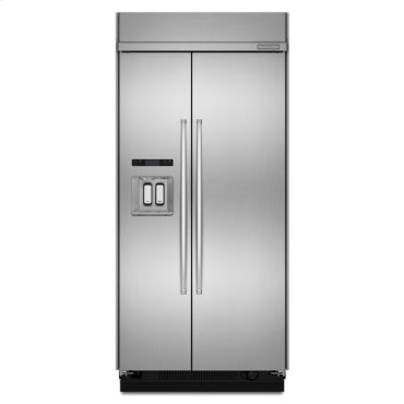 Stainless Steel KitchenAid® 25 Cu. Ft. 42-Inch Width Built-In Side-by-Side Refrigerator