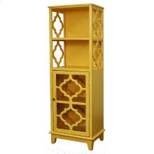Vicenza Shelving w/ 1 Glass Door, Yellow