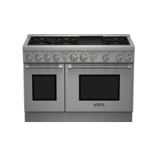 Professional Series 48 inch Dual-Fuel Standard-depth Range PRD486GDHC - Porcelain Rangetop
