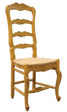 Country French Arm Chair with Rush Seat