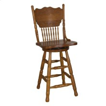 24 Inch Press Back Barstool