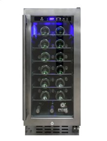EL-33WCGM-WR Smoked Black Stainless Steel Wine Cooler - Scratch n Dent