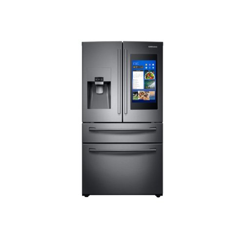 28 cu  ft  4-Door French Door with 21 5 in  Connected Touch Screen Family  Hub Refrigerator