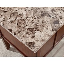 "Montibello Marble Top Writing Desk, 52"" x 28"" x 31"""
