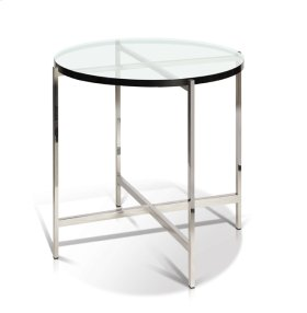 Bergen - Glass Top Round End Table