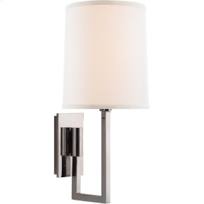 Visual Comfort BBL2027SS-L Barbara Barry Aspect 1 Light 6 inch Soft Silver Decorative Wall Light