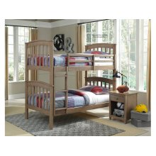 Bunk Bed in Taupe Gray w/ unfinished slats
