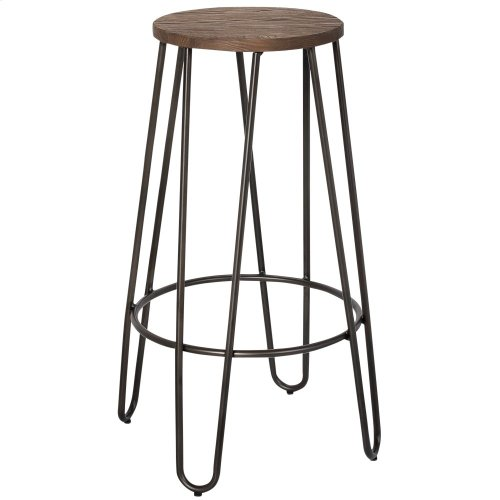 "Revo Counter Stool, 26"" in Black, 4pk"