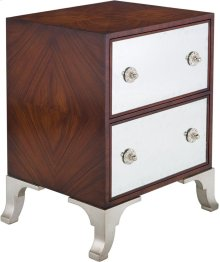 Haven 2-drawer Commode - Dark Mahogany / Silver