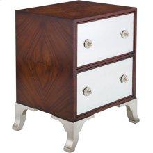 Haven 2-drawer Commode - Dark Mahogany / Silver