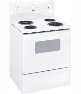 "MCBS523RWW - White on White Moffat 30"" Free Standing Electric Standard Clean Range"