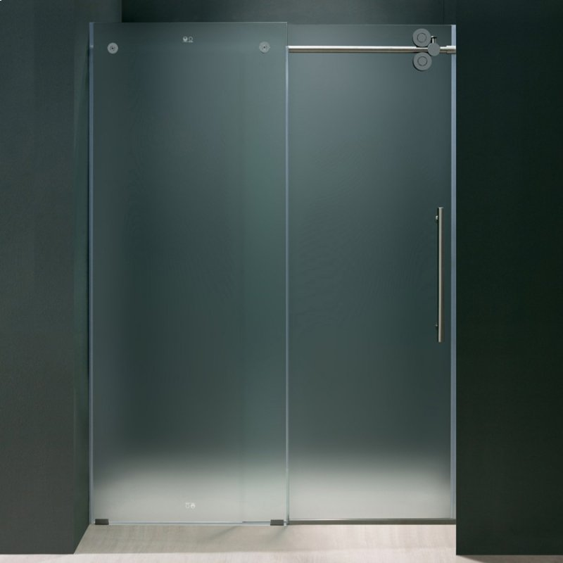 Vg6041chmt6074r in frostedchrome by vigo in scottsdale az elan elan 60 inch frameless shower door 375 in frosted glasschrome planetlyrics Image collections