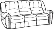 Crosstown Leather Reclining Sofa Product Image