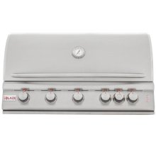 Blaze 40 Inch 5-Burner LTE Gas Grill with Rear Burner and Built-in Lighting System