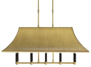 Glasgow Rectangular Chandelier - 39w x16d x17h Adjustable from 19 to 57h