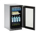 """Modular 3000 Series 18"""" Glass Door Refrigerator With Integrated Frame Finish and Field Reversible Door Swing Product Image"""
