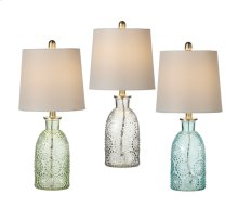 3 pc. ppk. Embossed Dot Accent Lamp. 40W Max. (3 pc. ppk.)