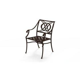 Cadiz Cast Aluminum Stacking Arm Chair