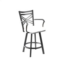 Raleigh B509H26AS Swivel Back And Arms Bar Stool
