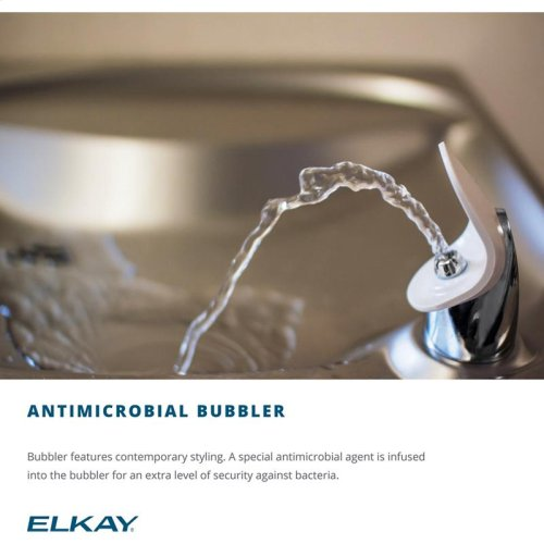 Elkay Versatile Cooler Wall Mount Bi-Level ADA Non-Filtered, 8 GPH Light Gray Granite