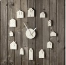 Porcelain Bisque House Wall Clock. Product Image