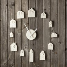 Porcelain Bisque House Wall Clock.
