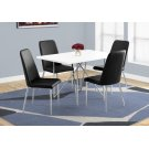"DINING TABLE - 32""X 48"" / WHITE / CHROME METAL Product Image"