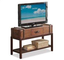 Latitudes Suitcase Console Table Aged Cognac finish