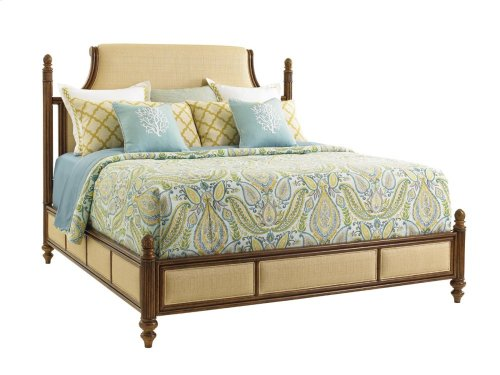 Orchid Bay Upholstered Panel Bed California King