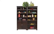 """75"""" Open Bookcase $499.00 and Bookcase with Doors $559.00"""