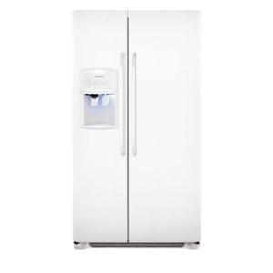 25.6 Cu. Ft. Side-by-Side Refrigerator - WHITE