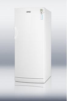Commercially approved 10.1 cu.ft. auto defrost all-refrigerator, with internal fan, side lock, and temperature alarm