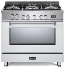 "White 36"" Dual Fuel Single Oven Range - Prestige Series"