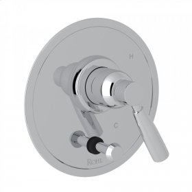 Polished Chrome Perrin & Rowe Holborn Pressure Balance Trim With Diverter with Holborn Metal Lever