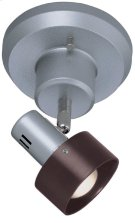 1-lite Wall Lamp, Silver/dark Walnut Shade, E17 Type R 40w Product Image