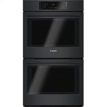 "800 Series 30"" Double Wall Oven, HBL8661UC, Black"