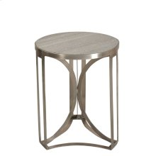Bengal Manor Antique Nickel and Grey Marble Accent Table