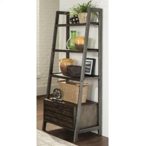 CoasterDeponte Weathered Gunmetal Tapering Bookcase
