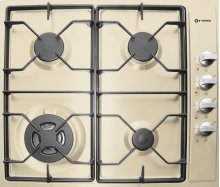 """Antique White (Bisque) 24"""" Gas Cooktop - Side Control"""