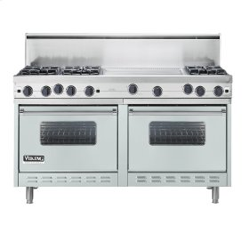 "Sea Glass 60"" Open Burner Commercial Depth Range - VGRC (60"" wide, six burners 24"" wide griddle/simmer plate)"