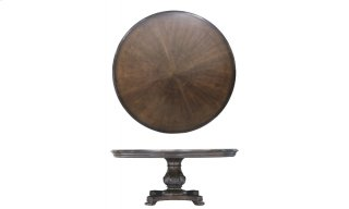 """Continental Round 72"""" Dining Table - Weathered Nutmeg"""