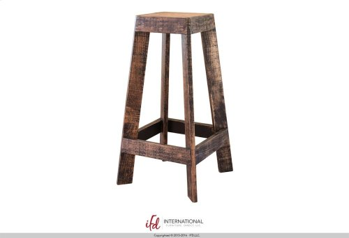 Wooden Bistro Top Black Rubbed Finish & Iron frame