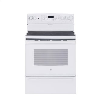 "GE 30"" Electric Free Standing Convection Range White JCB840DKWW"