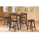 5-Piece Pack Counter Height Set, Warm Cherry Product Image